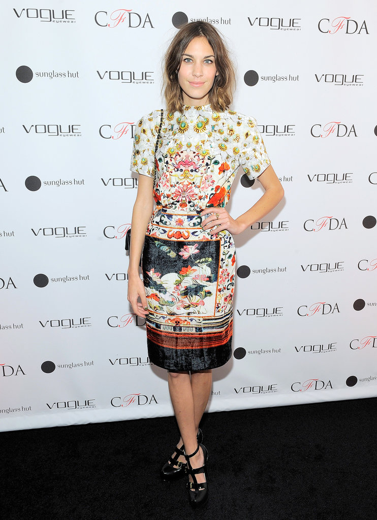 Alexa Chung was an early supporter of Mary Katrantzou at a 2011 event in New York.