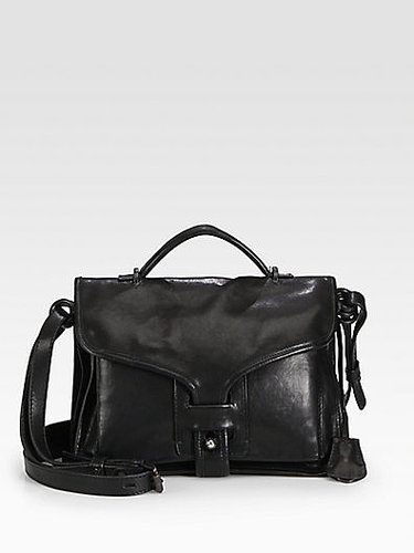NY Leather Large Top Handle Bag
