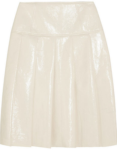 Jonathan Saunders Clarence pleated glossed-vinyl skirt
