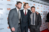 The Hemsworth brothers showed their support for Chris Hemsworth at his Rush premiere.
