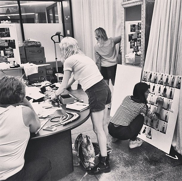 Timo Weiland's team was hard at work behind the scenes in the final days before the label's show. Source: Instagram user timoweiland