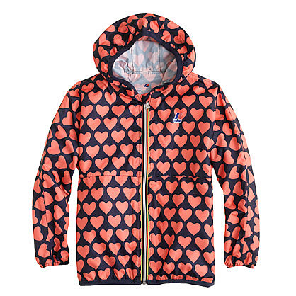 Super lightweight and completely waterproof, this heart-print K-Way For Crewcuts Claude Classic Jacket ($55) is a must for drizzly walks home from school. Choose from navy-persimmon, navy-white, and navy-lilac color combos.