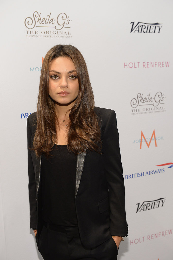 A fresh-faced Mila Kunis looked darling at the Variety Studio.