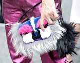 We spy a feathered Fendi.