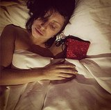 Sweet dreams to Lady Gaga and her sparkling red boot. Source: Instagram user ladygaga