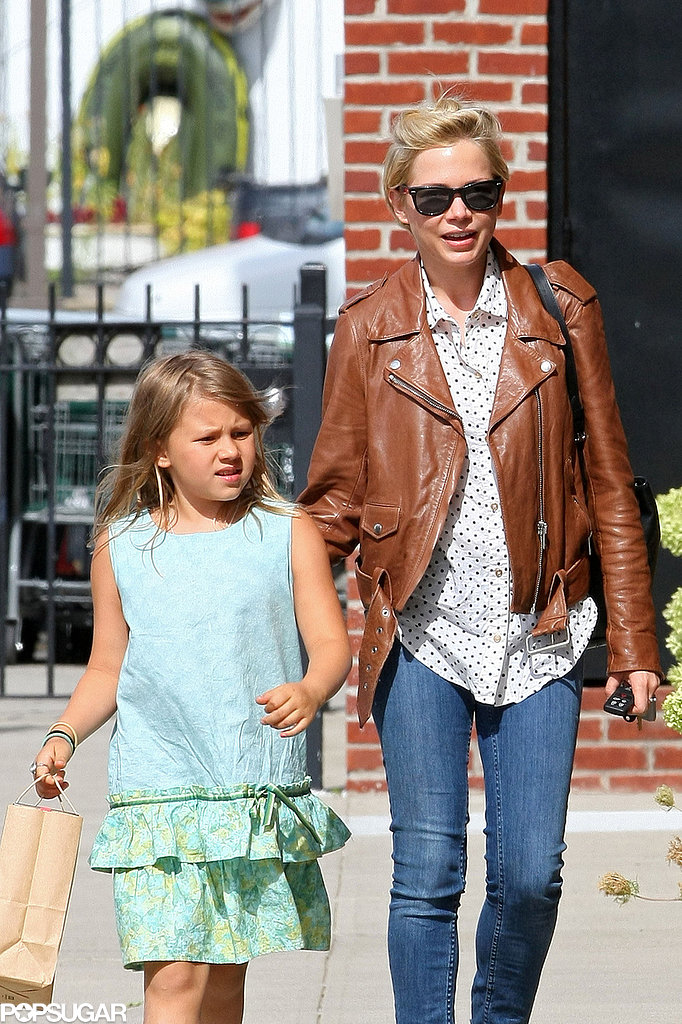 Michelle Williams walked with her daughter, Matilda Ledger.