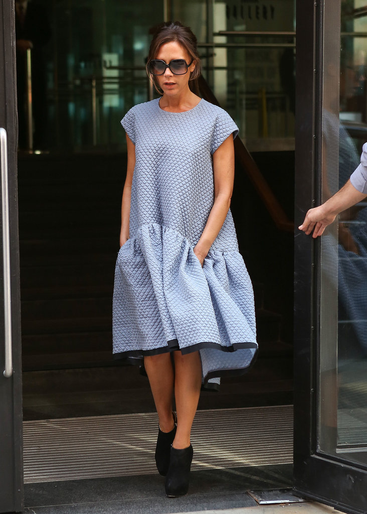 Victoria Beckham Hits the Streets While Baby Harper Hits the Hay