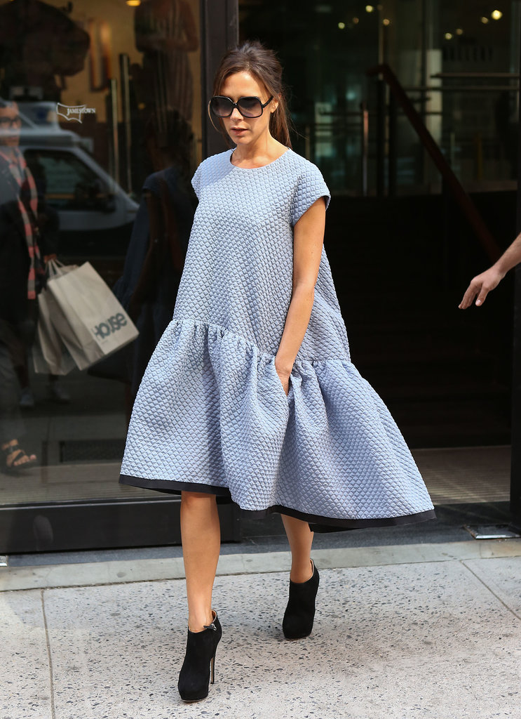 Victoria Beckham showed her lower-priced collection in NYC.