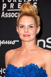 Jennifer Morrison stepped out at the InStyle party with a voluminous topknot.