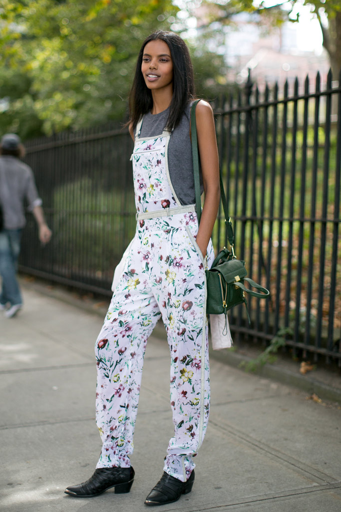 Decked out in 3.1 Phillip Lim florals — and the mini Pashli to match.