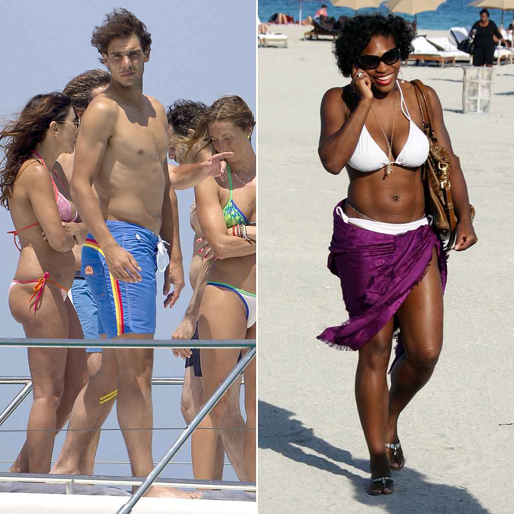 Rafael Nadal, Serena Williams, and More Sports Stars Hit the Beach