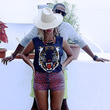 Beyonce Knowles's Vacation Pictures on Her Blog