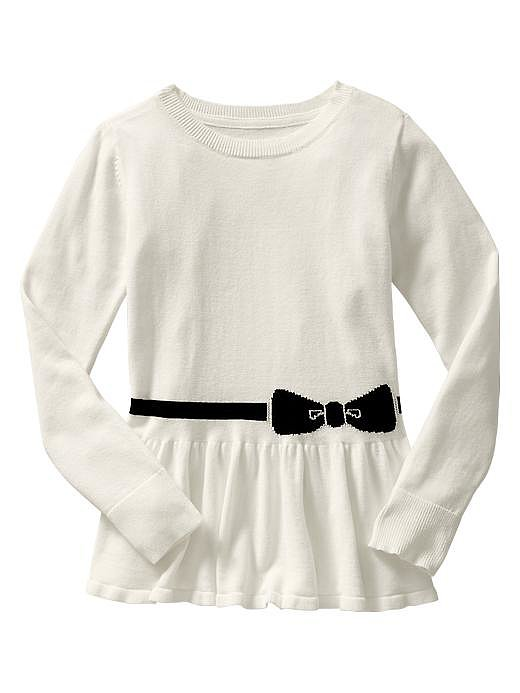There's no need for a belt with the built-in detailing on Gap Kids' bow peplum sweater ($23, originally $30).