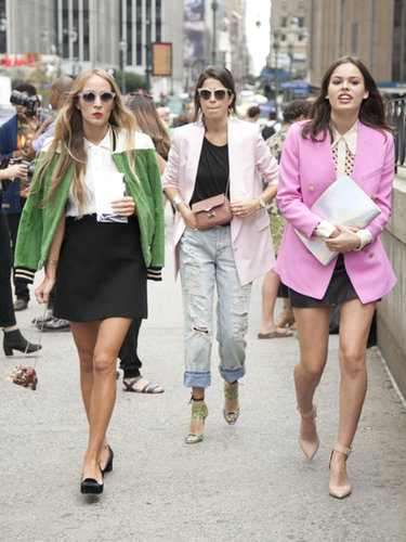 Harley Viera-Newton, Leandra Medine, and Atlanta de Cadenet made the stroll to Lincoln Center a lot more stylish.