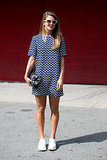 A graphic Zara dress paired surprisingly well with sneakers.