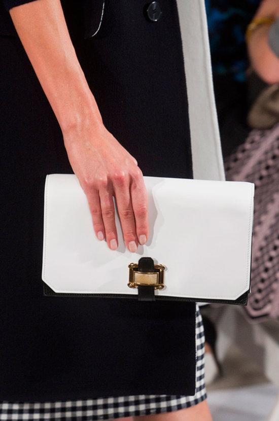 Oscar de la Renta Spring 2014 nude nails