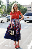 Chiara Ferragni's bright florals make us smile.