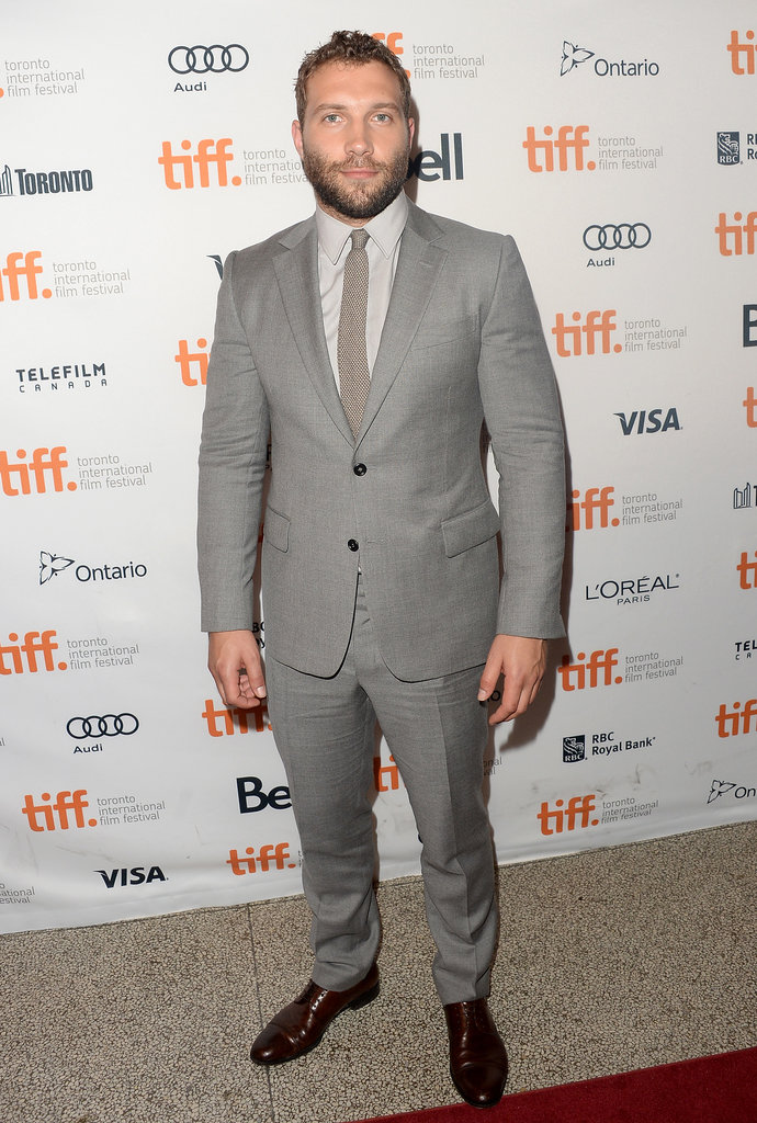 Jai Courtney wore a grey suit for the premiere of Felony.