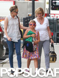 Michelle Willams and her mom, Carla Williams, took Matilda Ledger for a walk in NYC.