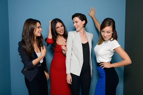 Olivia Wilde, Mila Kunis, Moran Atias, and Loan Chabanol had a laugh during their portrait session for Third Person.