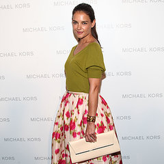 Katie Holmes Front Row at Michael Kors Spring 2014 at NYFW