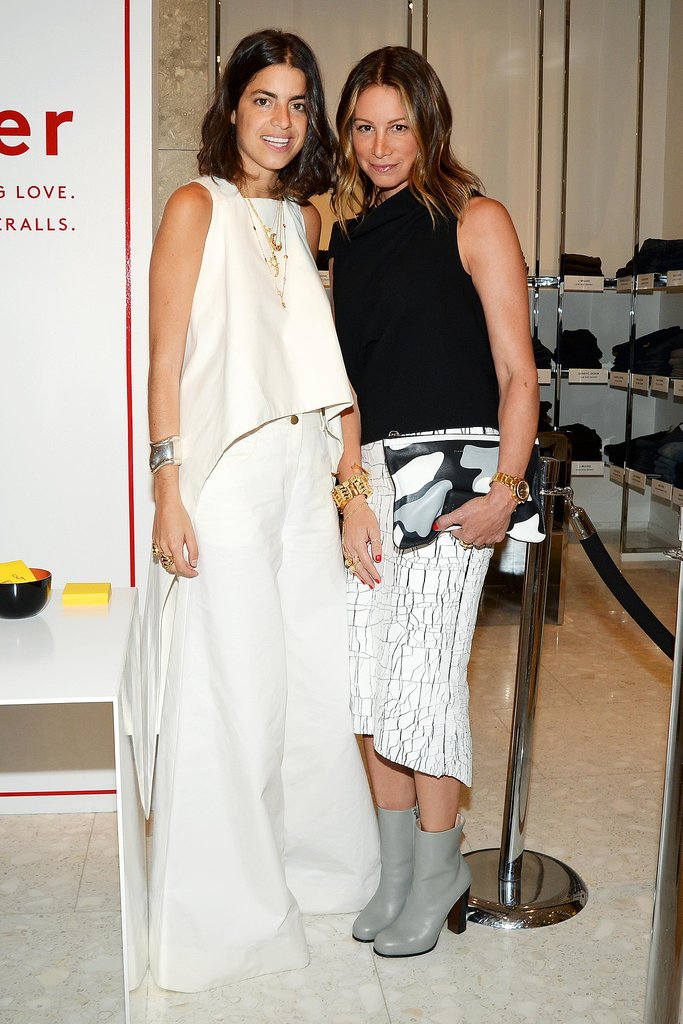 While launching her book, Leandra Medine stopped to pose with Jennifer Fisher.