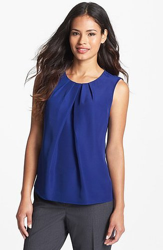 Jones New York Collection 'Abby' Pleat Neck Blouse