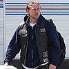 Charlie Hunnam on the Set of Sons of Anarchy in LA