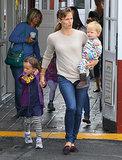Jennifer Garner brought her kids, Seraphina and Samuel Affleck, to get breakfast in LA.