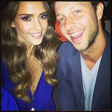 Jessica Alba and Derek Blasberg posed for a selfie while at the DVF dinner. Source: Instagram user jessicaalba