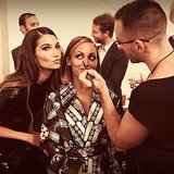 Lily Aldridge took a photo with Nicole Richie while she got glammed up for the Style Awards. Source: Instagram user nicolerichie