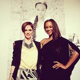 Coco Rocha and Tyra Banks posed together at Tyra's photo exhibit in NYC. Source: Instagram user cocorocha