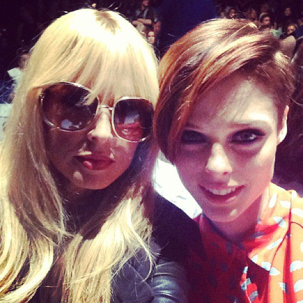 Rachel Zoe snapped a stylish selfie with model Coco Rocha. Source: Instagram user rachelzoe
