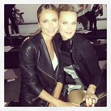 Stacy Keibler and Molly Sims stayed close in the front row for the Helmut Lang runway show. Source: Instagram user stacykeibler