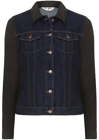 Coated sleeve denim jacket