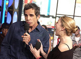 Ben Stiller and Drew Barrymore joked around during TRL in 2003.