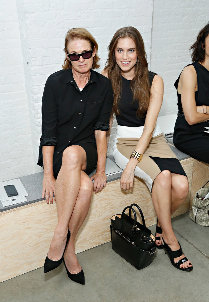 Lisa Love and Allison Williams sat next to each other at Reed Krakoff.