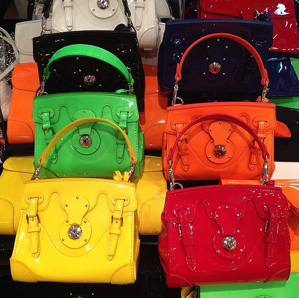 Ralph Lauren gave us a peek at things to come on their bright runway with candy-colored Ricky bags. Source: Instagram user ralphlauren
