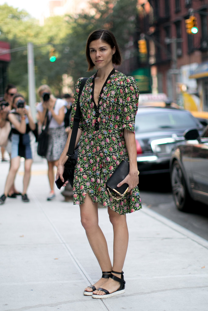 Emily Weiss showed off a flirty dress and flats.