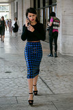 Miroslava Duma went for high-wattage sequins and a killer cropped top.