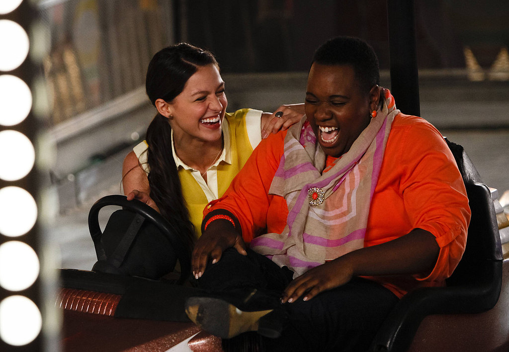 Glee Marley (Melissa Benoist) and Unique (Alex Newell) on Glee's season premiere.