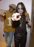 P. Diddy and Ozzy Osbourne struck a pose backstage during a 2001 visit to MTV's TRL.