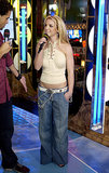Britney Spears rocked some (really) wide-leg jeans on the show in 2003.