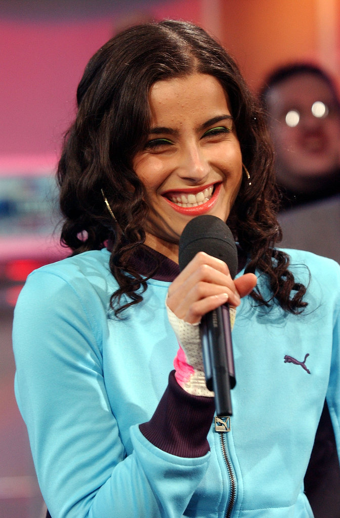 Nelly Furtado visited TRL's NYC studio in 2002.