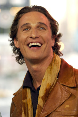 Matthew McConaughey sported a camel leather jacket on TRL in 2003.