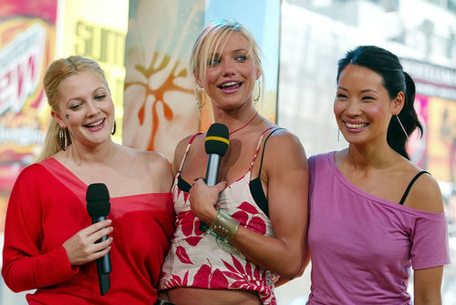 Drew Barrymore, Cameron Diaz, and Lucy Liu promoted Charlie's Angels: Full Throttle on TRL in 2003.