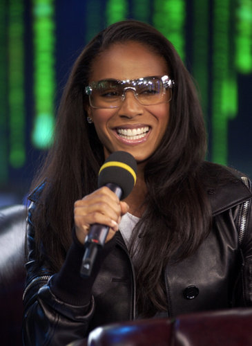 Jada Pinkett Smith stopped by MTV Studios for TRL in 2003.
