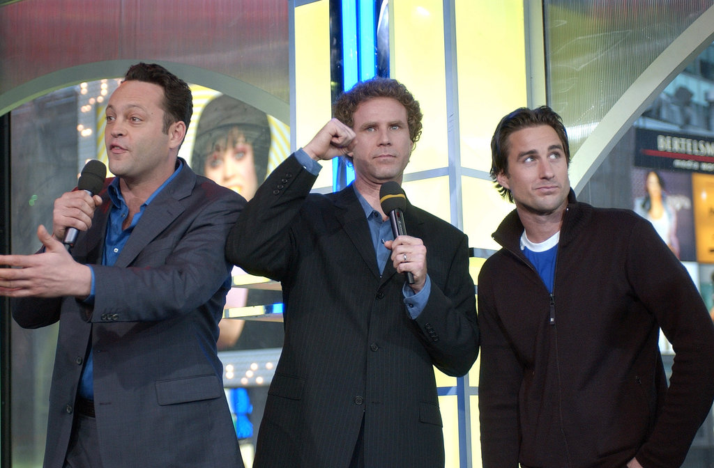 Old School's Vince Vaughn, Will Ferrell, and Luke Wilson stopped by TRL in 2003.
