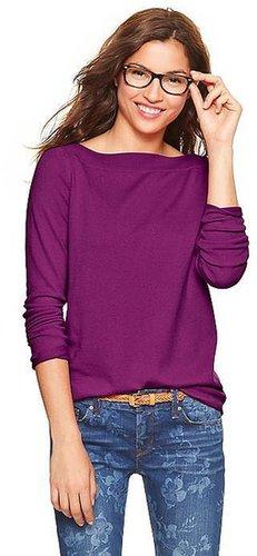 Eversoft envelope-neck sweater