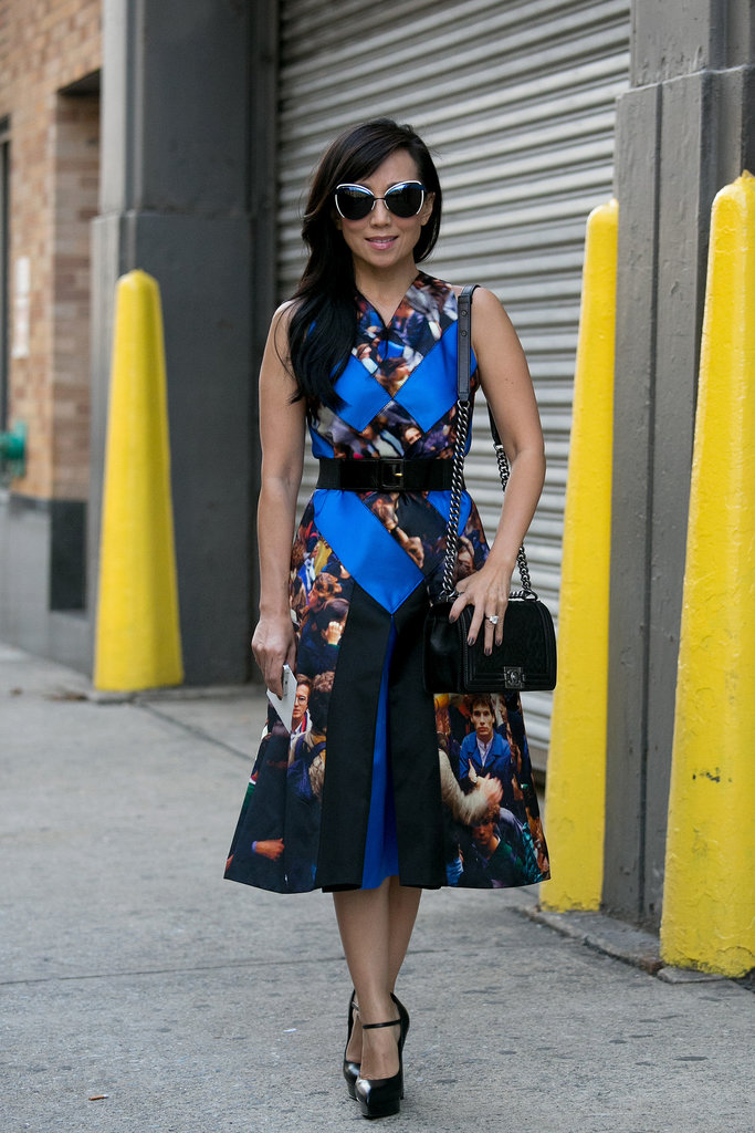Bag Snob's Tina Craig proved the power of one great printed dress.